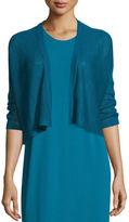 Eileen Fisher 3/4-Sleeve Organic Linen Kimono Cardigan