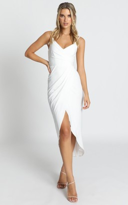 Showpo How Will I Know Dress in white - 6 (XS) Bridesmaid