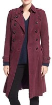 Rebecca Minkoff Women's 'Amis' Double Breasted Suede Trench Coat