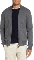 Eleventy Men's Quilted Zip Sweatshirt Jacket