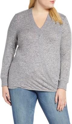 Bobeau Mavis Cozy Cross Front Sweater