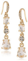 Carolee Columbus Circle Goldtone Linear Drop Earrings