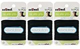 Scunci The Evolution No Slip Grip Gel Hair Ties Black - 14 CT (Pack Of 3)...