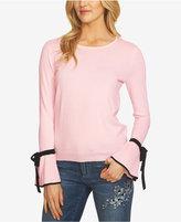 CeCe Tie-Sleeve Sweater