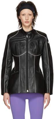 Marine Serre Black Leather Jacket