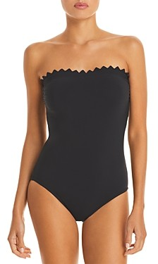 Karla Colletto Ines Scalloped Bandeau One Piece Swimsuit