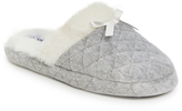 Ellen Tracy Gray Quilted Slipper