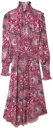 Etoile Isabel Marant Cescott Dress in Fuchsia