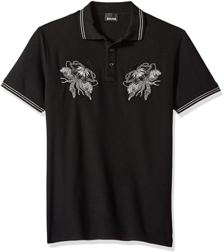 Just Cavalli Mens Graphic Polo Shirt