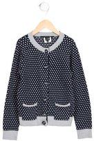 Little Marc Jacobs Girls' Polka Dot Knit Cardigan