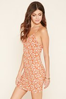 Forever 21 FOREVER 21+ Floral Cutout Cami Dress