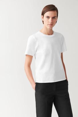 Cos Draped Organic-Cotton T-Shirt