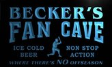 AdvPro Name tc1389-b BECKER's Baseball Fan Cave Man Room Bar Beer Neon Light Sign