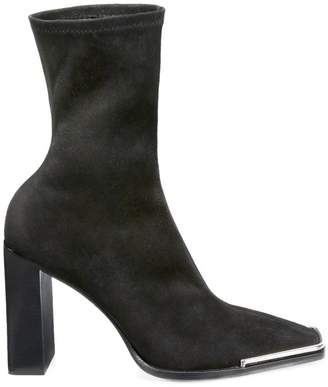 Alexander Wang Mascha Halo Stretch-Suede Sock Boots