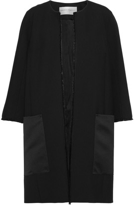 Amanda Wakeley Satin-paneled Cady Coat