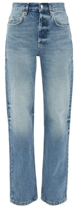 Raey Open Unisex Faded Wide-leg Jeans - Light Blue