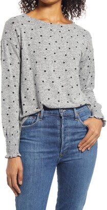 Lucky Brand Smock Cuff Jersey Top