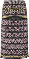 M Missoni knitted straight midi skirt