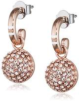 Tommy Hilfiger Women's Rose Gold-Plated Stainless-Steel Pave Ball Earrings