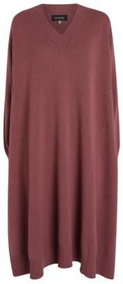 eskandar Cashmere V-Neck Sweater Dress