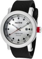 Redline Red Line Men's Compressor Red Dial Black Silicone Watch RL-18000-05-BB