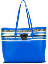 Versace City Stripe Greek Key tote - women - Nappa Leather - One Size