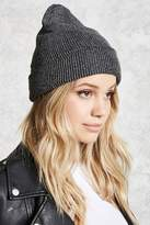 Forever 21 Metallic Ribbed Knit Beanie
