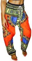 Ninimour Womens Tribal Design Wide Leg Harem Pants L