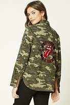Forever 21 Rolling Stones Camo Jacket