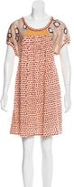 Tsumori Chisato Wool Printed Dress w/ Tags