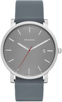 Skagen Men's Hagen Gray Silicone Strap Watch 40mm SKW6344