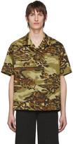 Givenchy Khaki Camo Short Sleeve Shirt