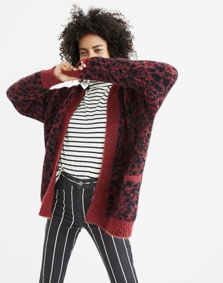 Madewell Cardigan Sweater in Leopard
