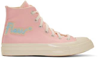 Converse Pink Golf le Fleur* Chuck 70 Hi Sneakers