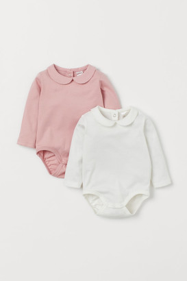 H&M 2-Pack Collared Bodysuits