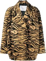 ADAM by Adam Lippes tiger print jacket - women - Silk/Cotton/Acrylic - XS