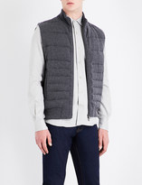 Corneliani Quilted wool and cashmere-blend gilet