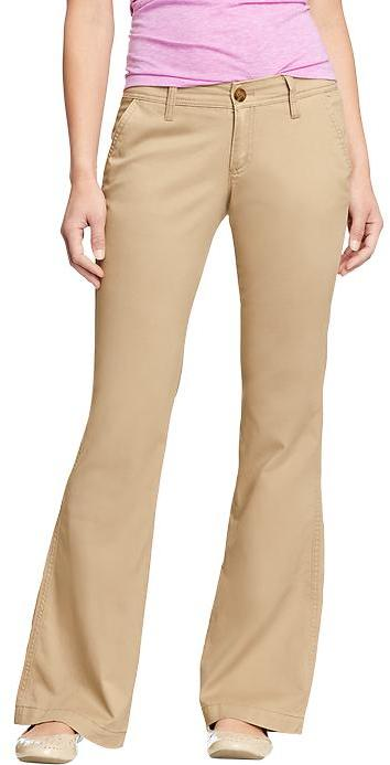 Old Navy Women's The Diva Everyday Flare Khakis