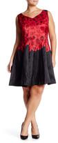 Taylor Floral V-Neck Fit & Flare Dress (Plus Size)