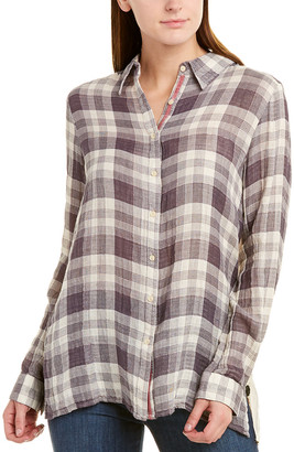 Johnny Was Silk-Paneled Shirt