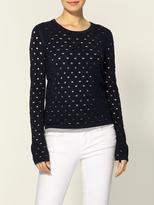 Rag & Bone Eyelet Long Sleeve Top