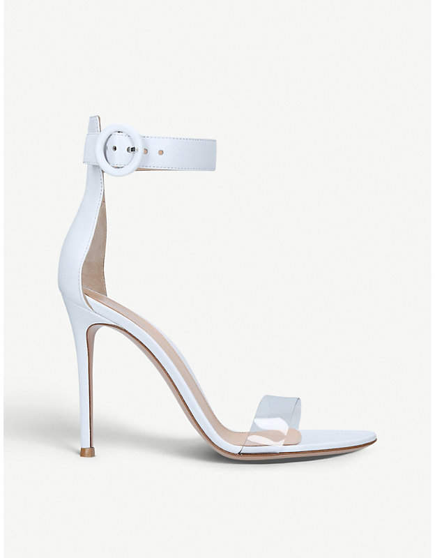 Gianvito Rossi Stella 85 leather heeled sandals
