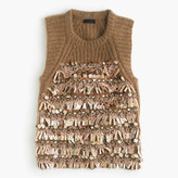J.Crew Italian embellished cashmere sleeveless sweater