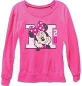 Disney Classic Minnie Mouse 'M 28' Womens Long Sleeve Crew Neck Sweatshirt - XL