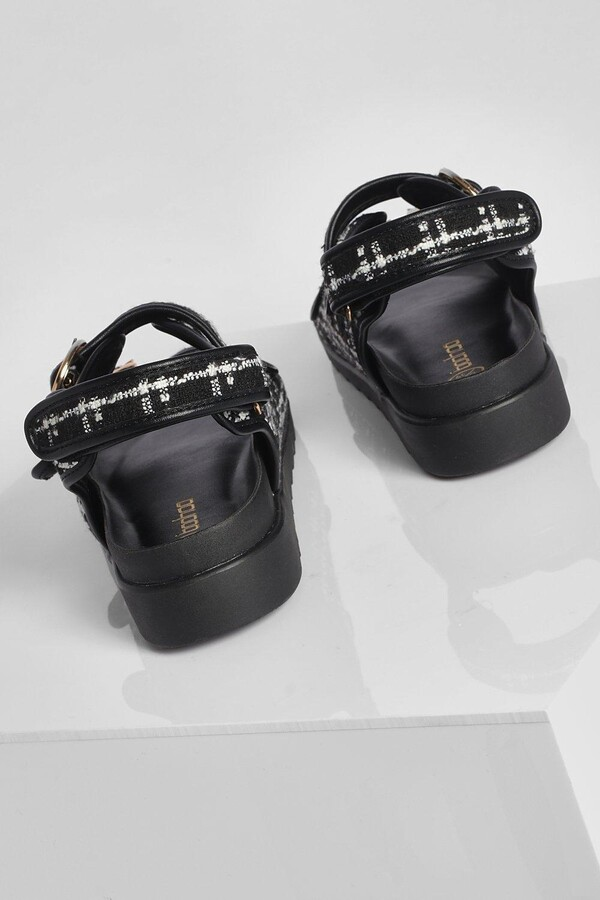 Thumbnail for your product : boohoo Boucle Sporty Dad Sandal