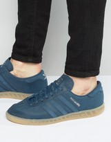 adidas Hamburg Sneakers In Blue BB4992