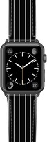 Casetify Black Stripe Saffiano Faux Leather Apple Watch(R) Strap