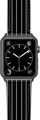 Casetify Black Stripe Saffiano Faux Leather Apple Watch(R) Strap