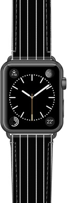 Casetify Black Stripe Saffiano Faux Leather Apple Watch Strap