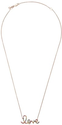 Sydney Evan 14kt gold Large Rainbow Love Necklace